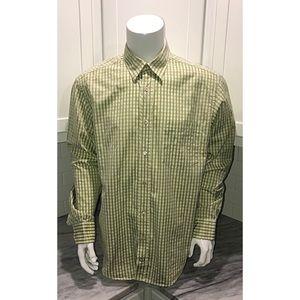 Bugatchi UOMO Mens Dress Shirt XL Green EUC